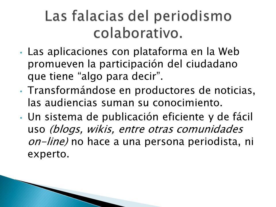 Las falacias del periodismo colaborativo.