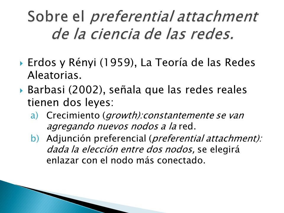 Sobre el preferential attachment de la ciencia de las redes.