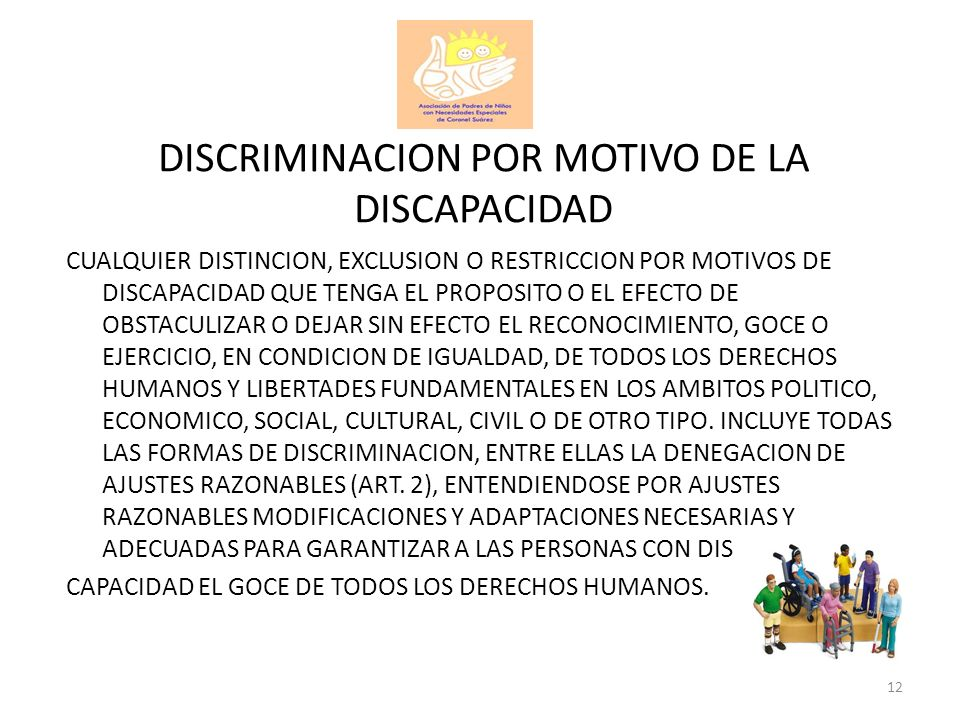 DISCRIMINACION POR MOTIVO DE LA DISCAPACIDAD