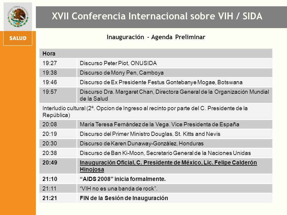 Inauguración - Agenda Preliminar