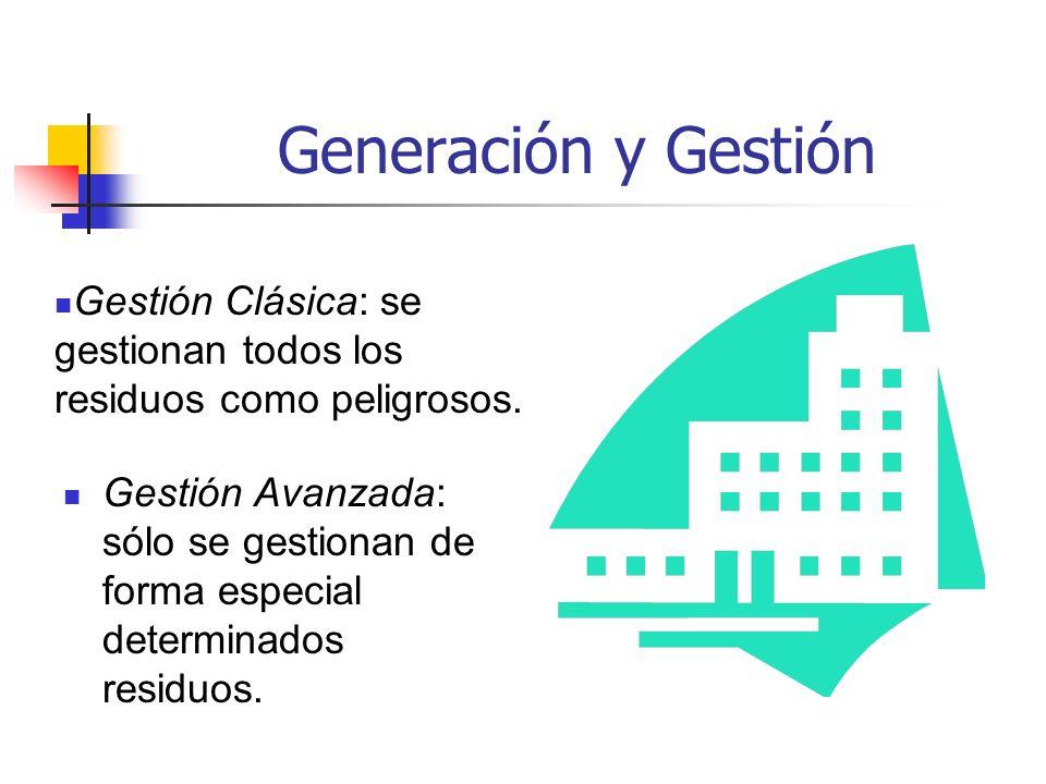Generación y Gestión Gestión Clásica: se gestionan todos los residuos como peligrosos.