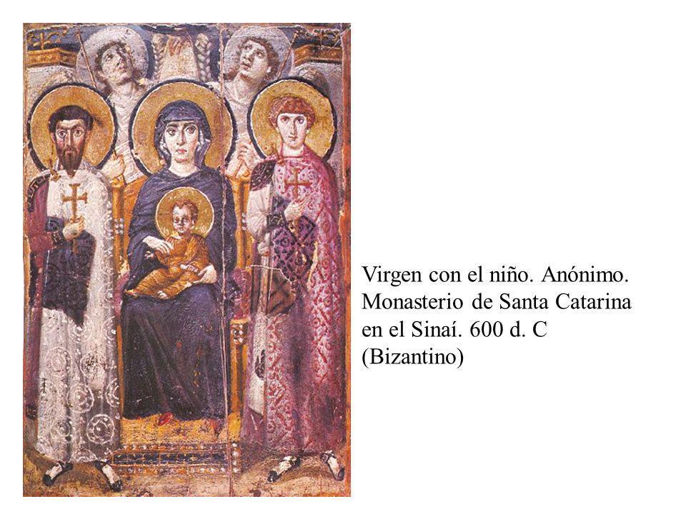 Encaustica Virgen con el niño. Anónimo. Monasterio de Santa Catarina en el Sinaí.