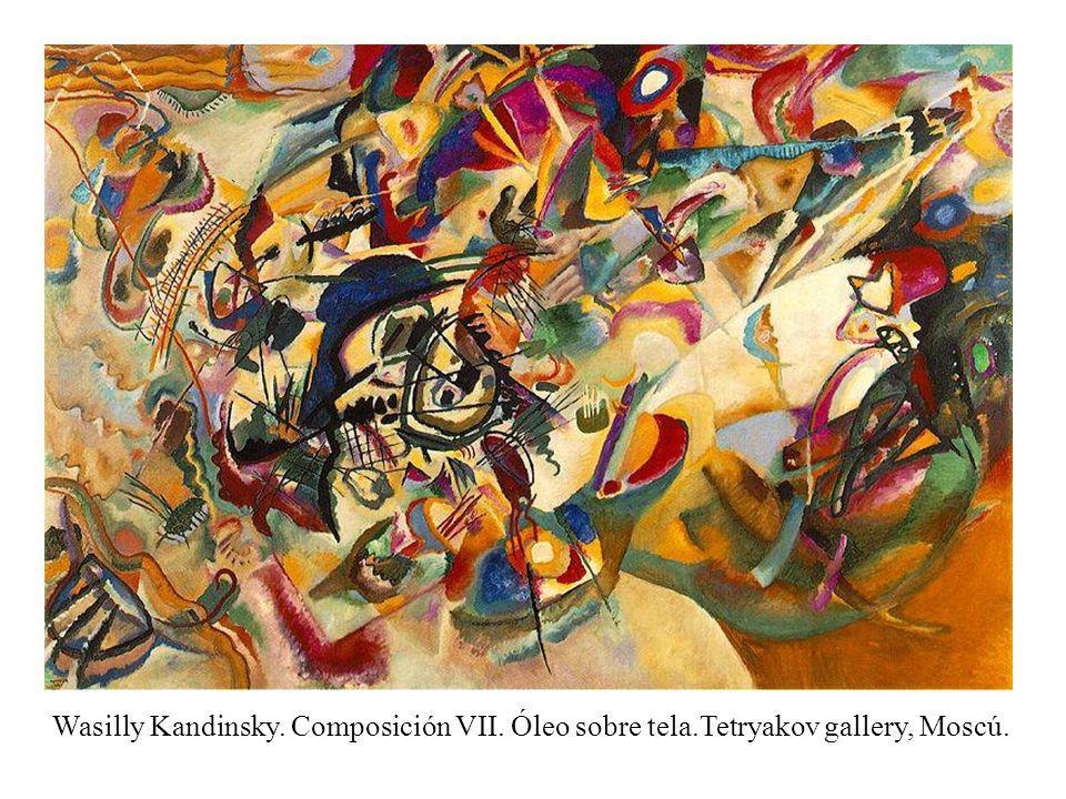 Abstracto lirico Wasilly Kandinsky. Composición VII. Óleo sobre tela.Tetryakov gallery, Moscú.