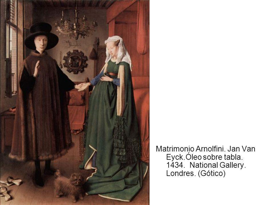 Matrimonio Arnolfini. Jan Van Eyck. Óleo sobre tabla. 1434