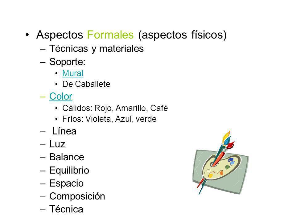 Aspectos Formales (aspectos físicos)