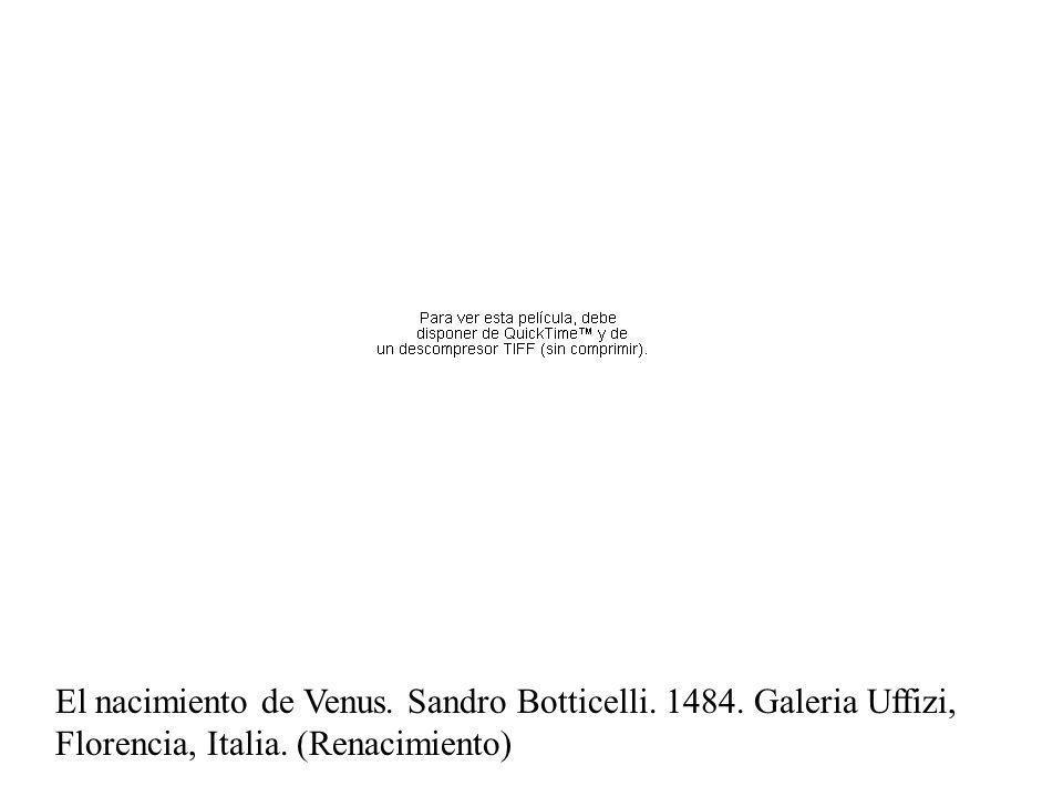 Temple El nacimiento de Venus. Sandro Botticelli.