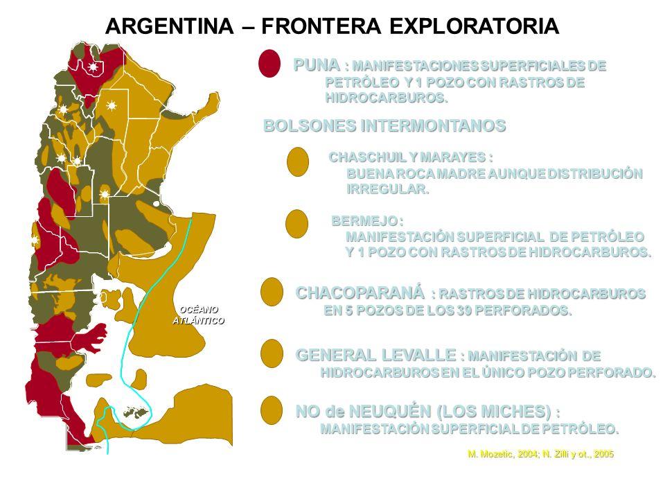 ARGENTINA – FRONTERA EXPLORATORIA BOLSONES INTERMONTANOS