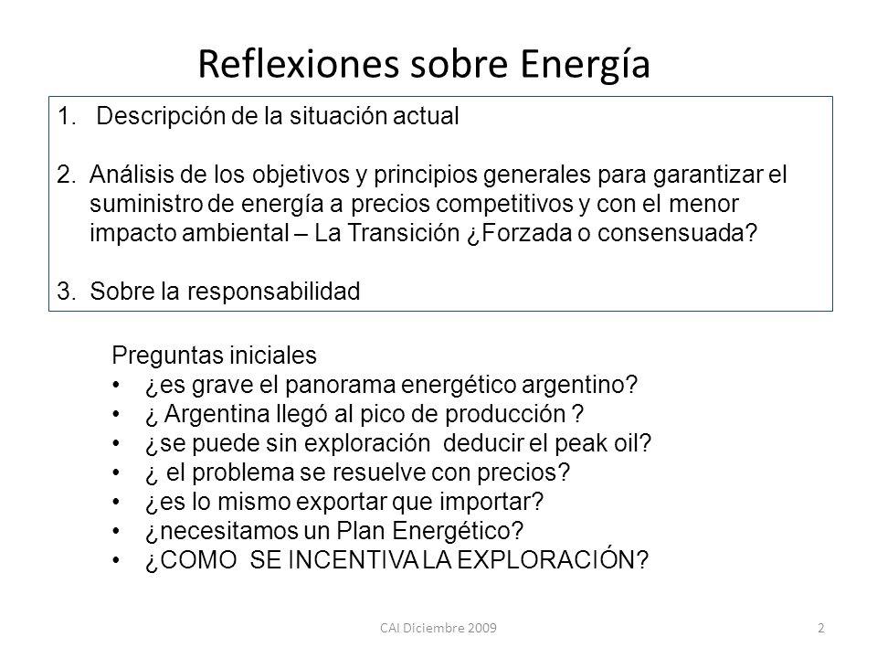 Reflexiones sobre Energía