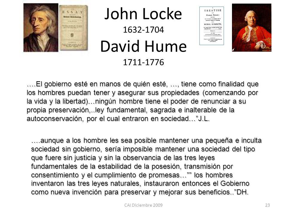 John Locke 1632-1704 David Hume 1711-1776