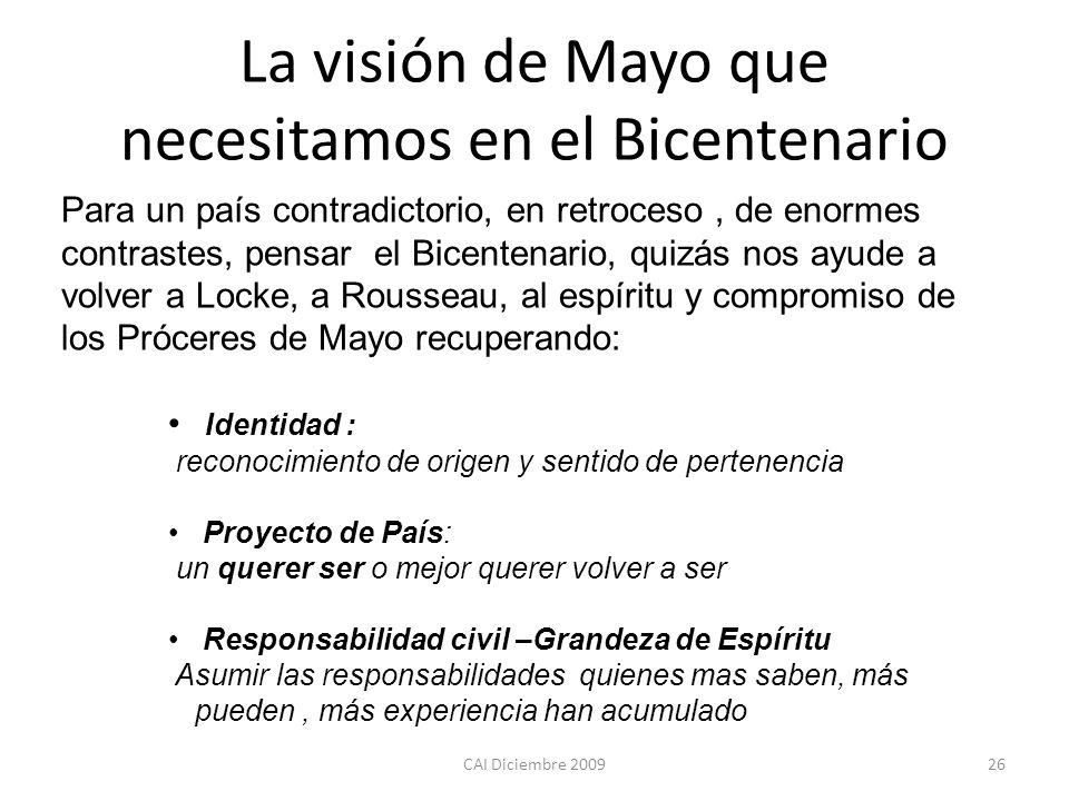 La visión de Mayo que necesitamos en el Bicentenario
