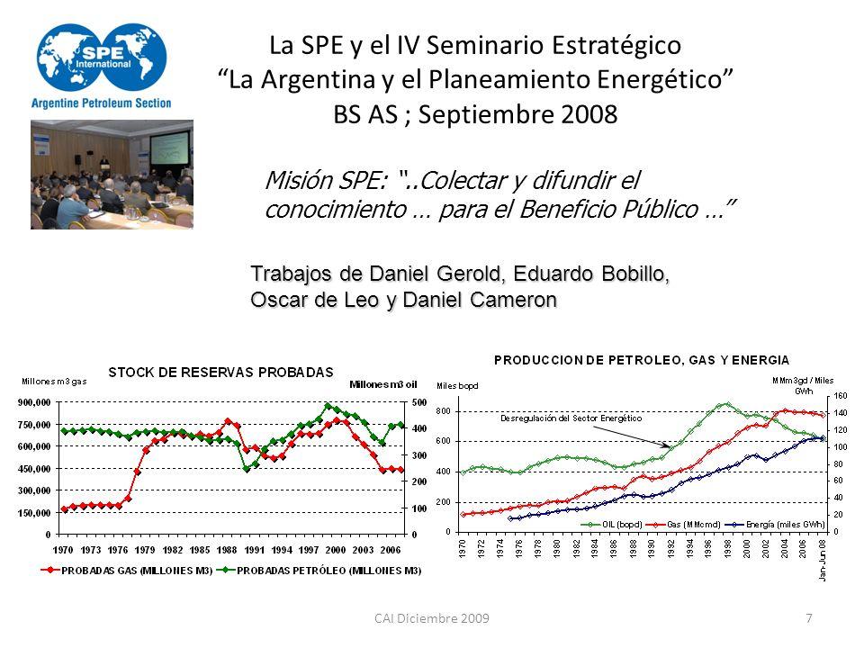 La SPE y el IV Seminario Estratégico La Argentina y el Planeamiento Energético BS AS ; Septiembre 2008