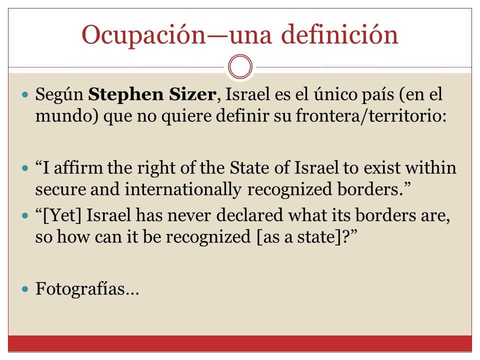 Ocupación—una definición