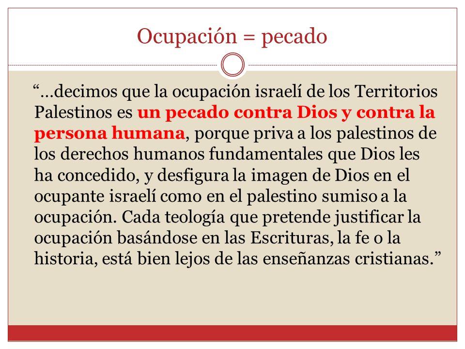 Ocupación = pecado