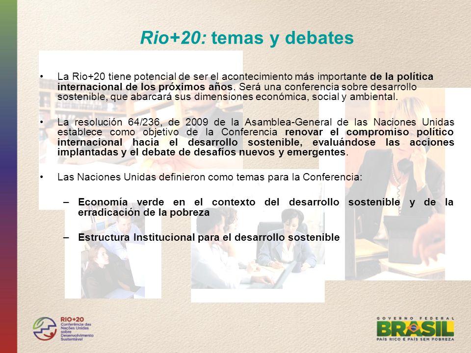 Rio+20: temas y debates