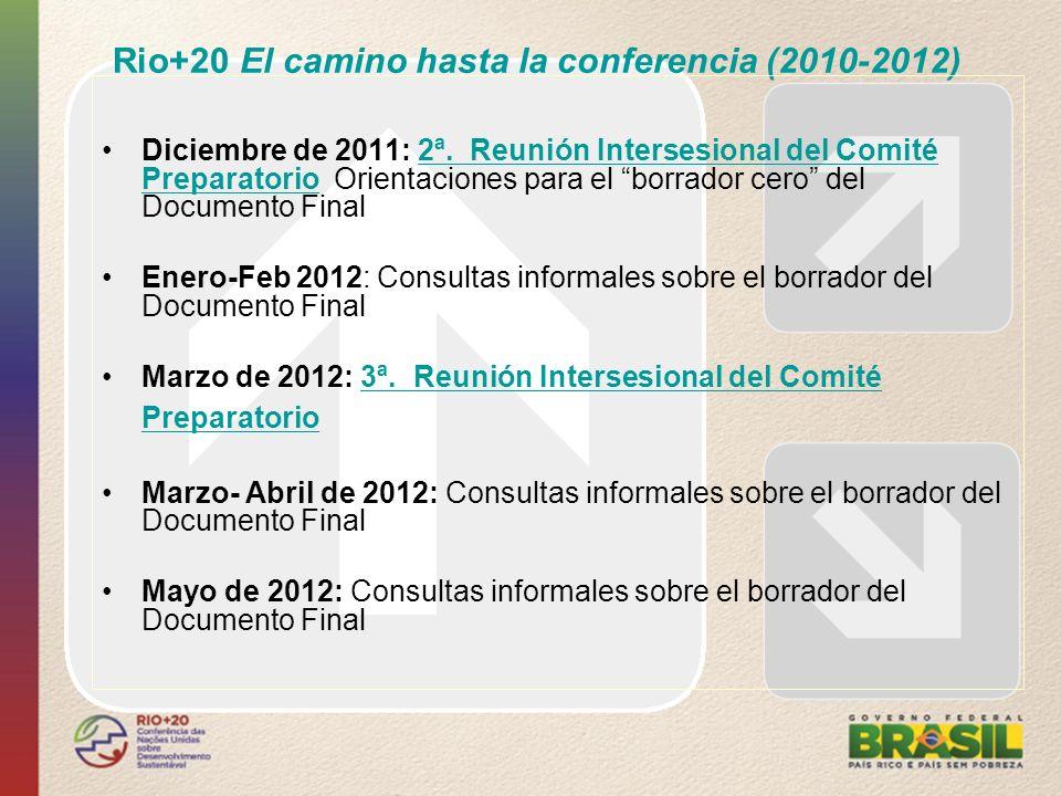 Rio+20 El camino hasta la conferencia (2010-2012)