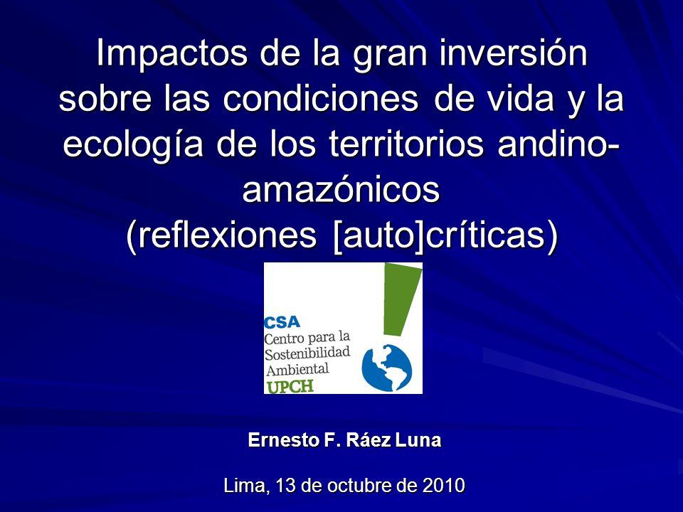 Ernesto F. Ráez Luna Lima, 13 de octubre de 2010