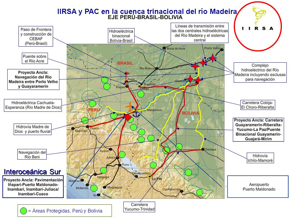 IIRSA y PAC en la cuenca trinacional del río Madeira