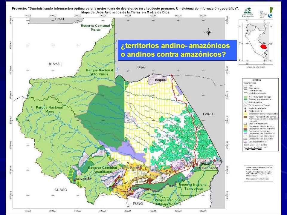 ¿territorios andino- amazónicos o andinos contra amazónicos