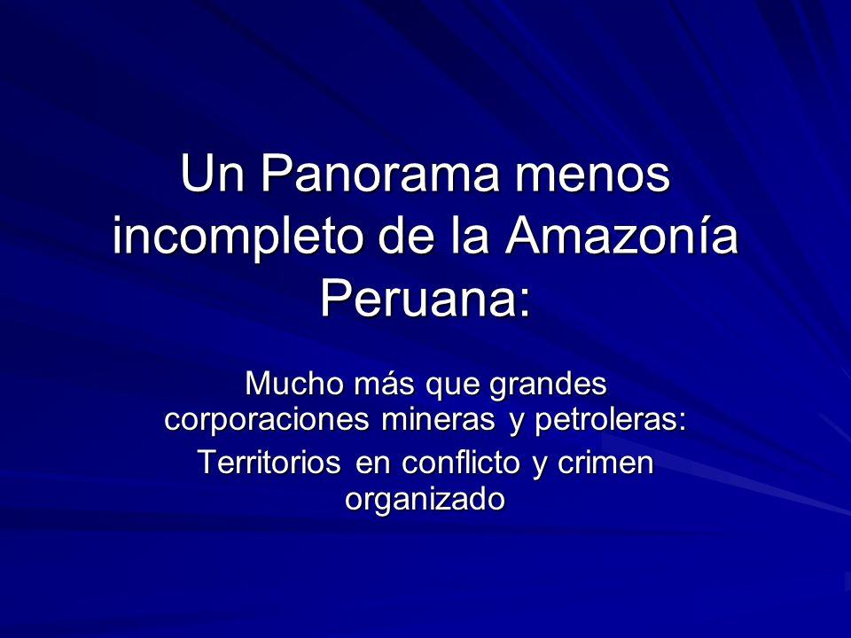 Un Panorama menos incompleto de la Amazonía Peruana: