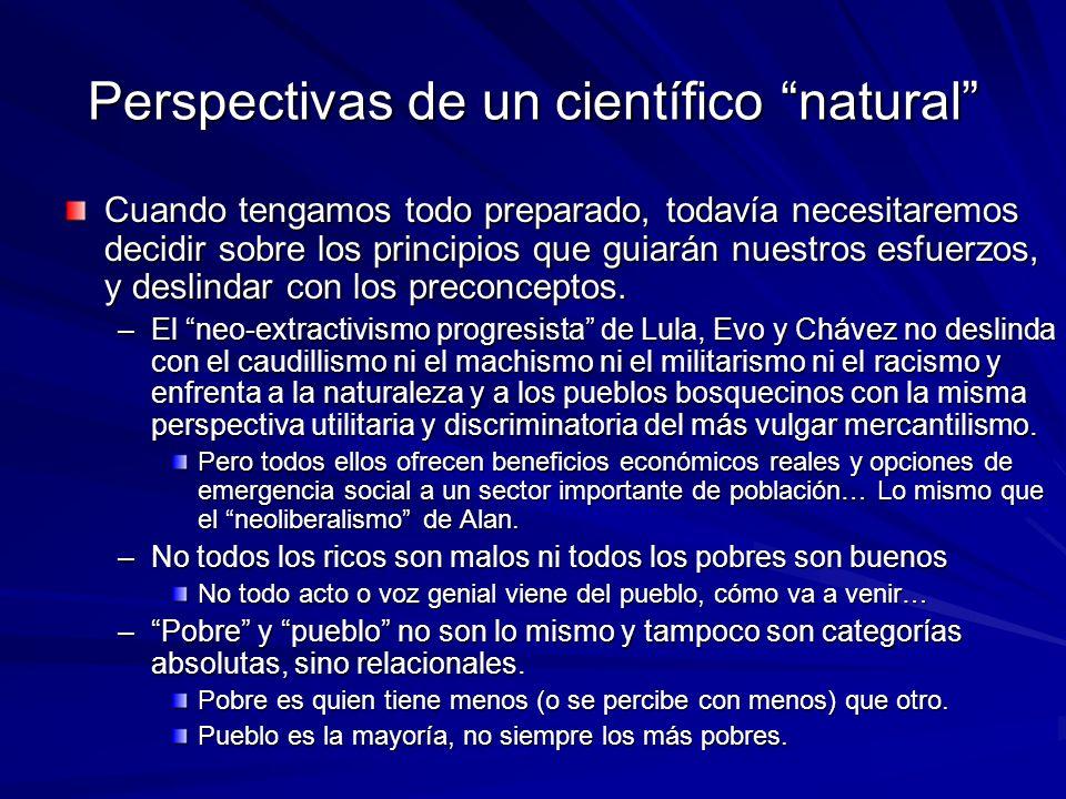 Perspectivas de un científico natural