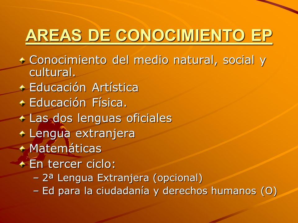 AREAS DE CONOCIMIENTO EP