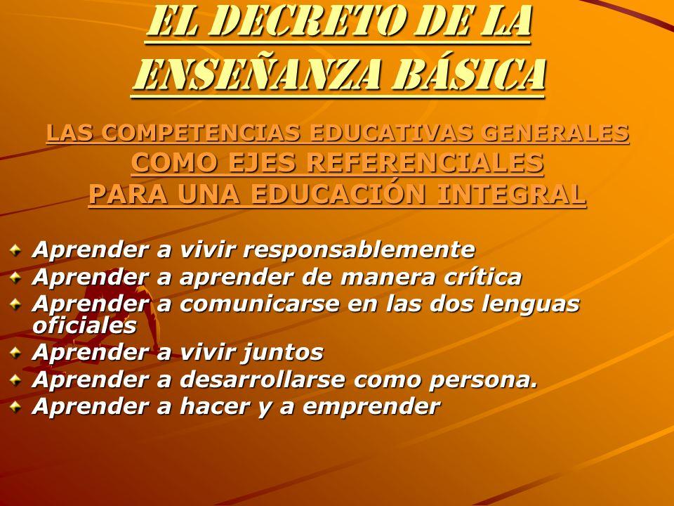 EL DECRETO DE LA ENSEÑANZA BÁSICA