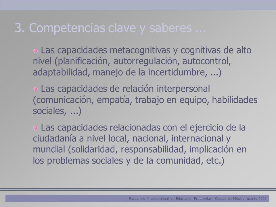 3. Competencias clave y saberes ...