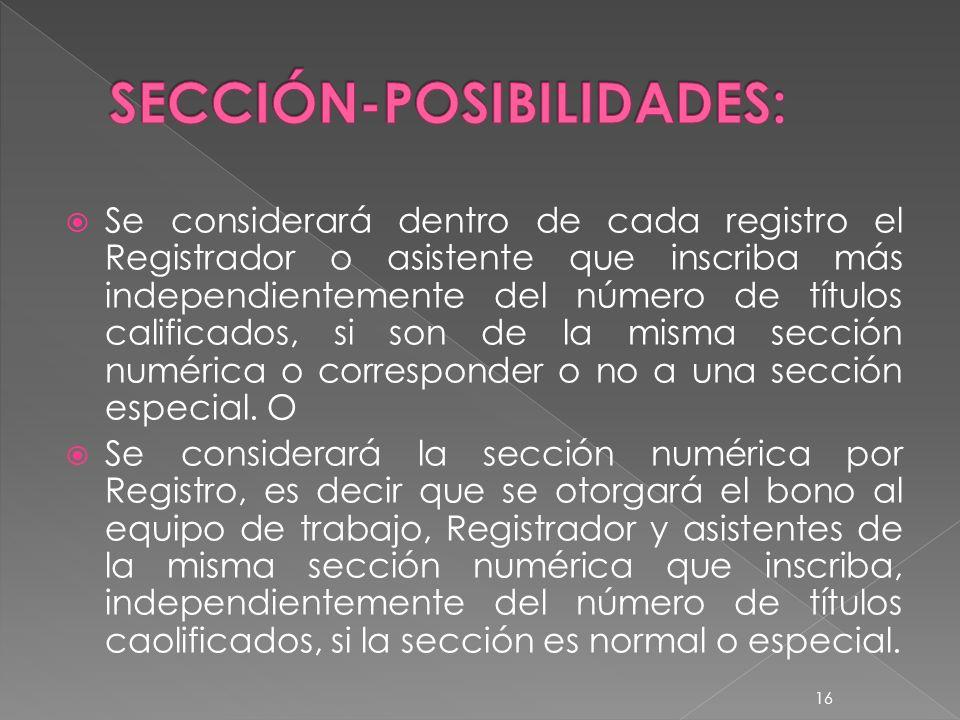 SECCIÓN-POSIBILIDADES: