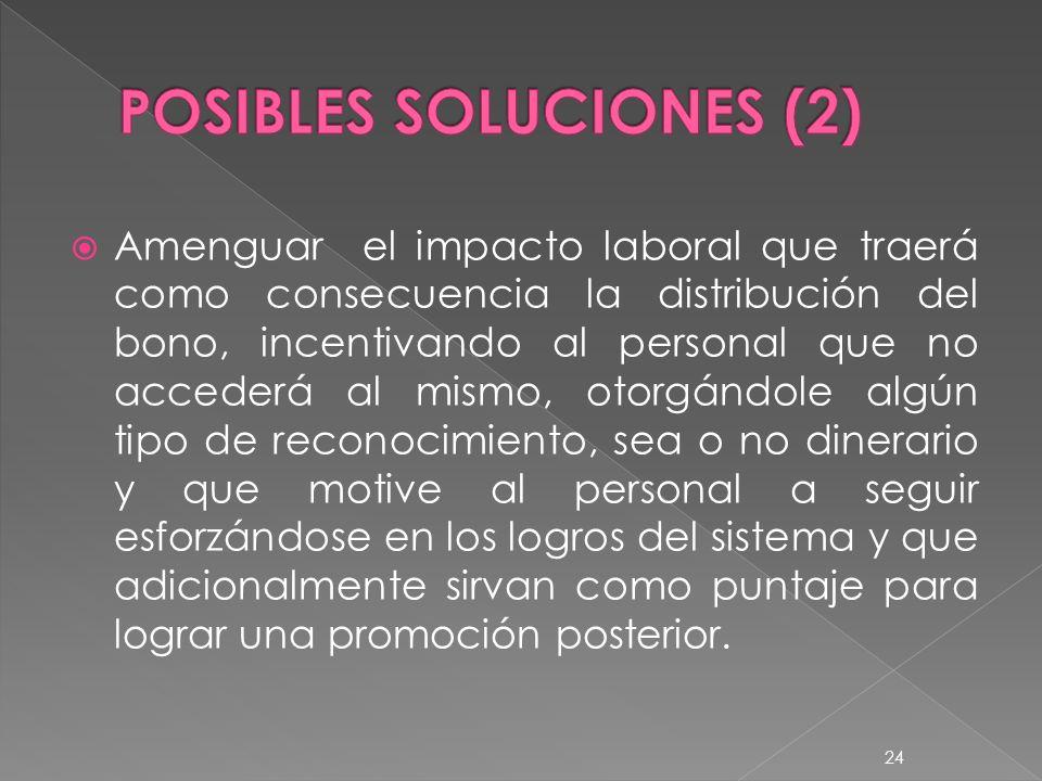 POSIBLES SOLUCIONES (2)