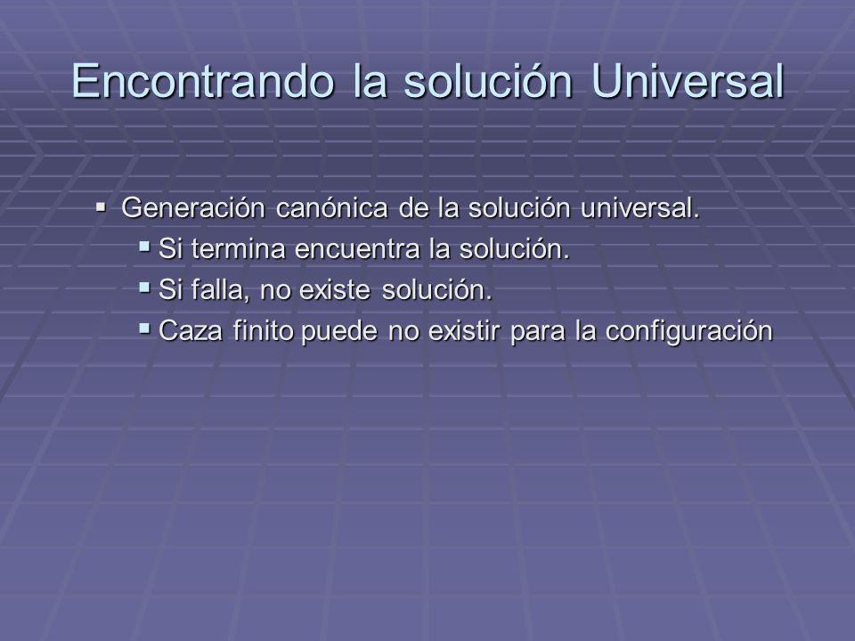 Encontrando la solución Universal