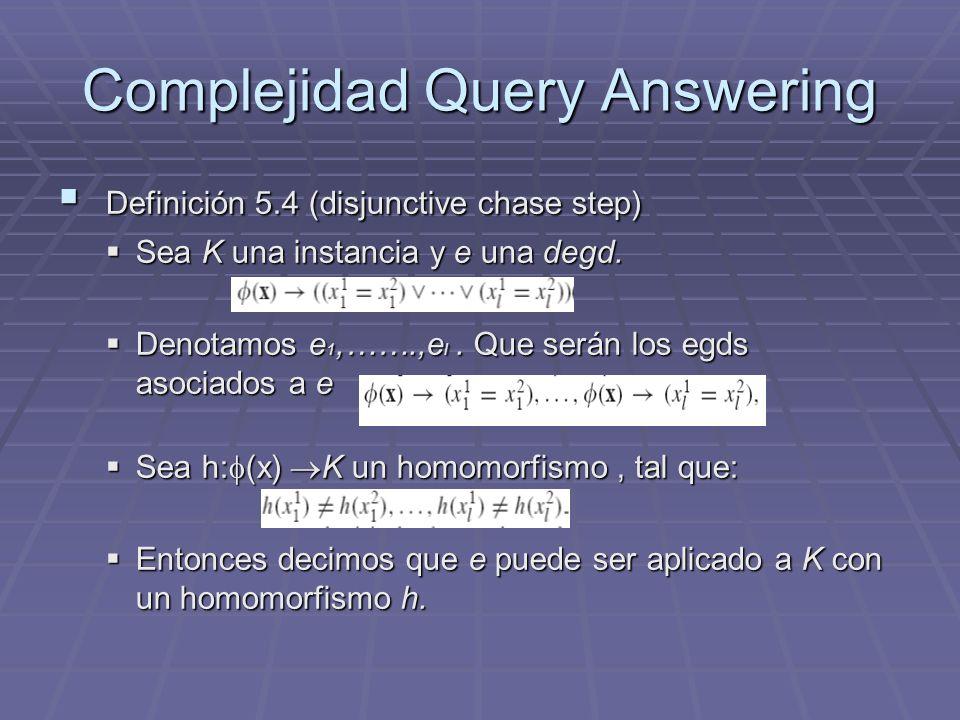 Complejidad Query Answering