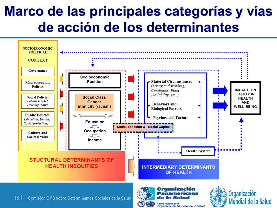 Marco de las principales categorías y vías de acción de los determinantes