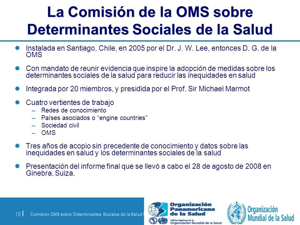 La Comisión de la OMS sobre Determinantes Sociales de la Salud
