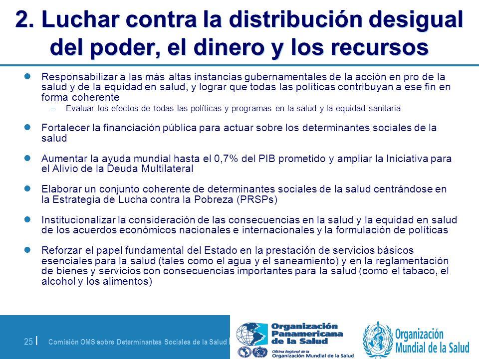 2. Luchar contra la distribución desigual del poder, el dinero y los recursos
