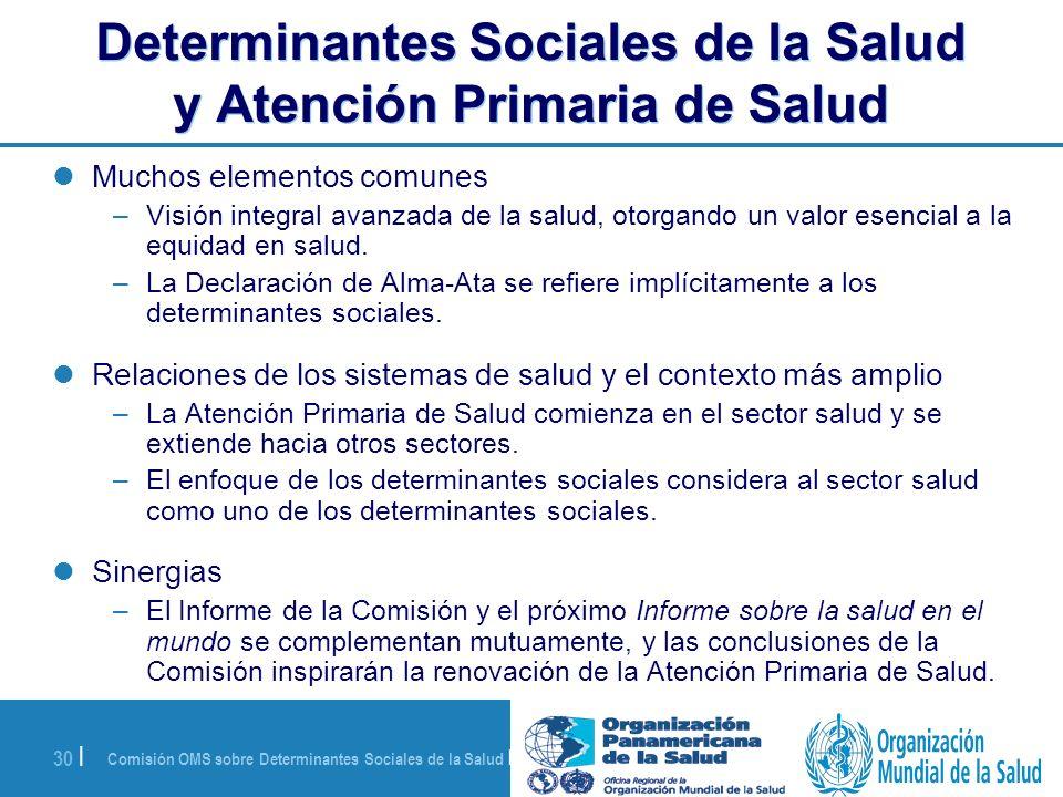 Determinantes Sociales de la Salud y Atención Primaria de Salud