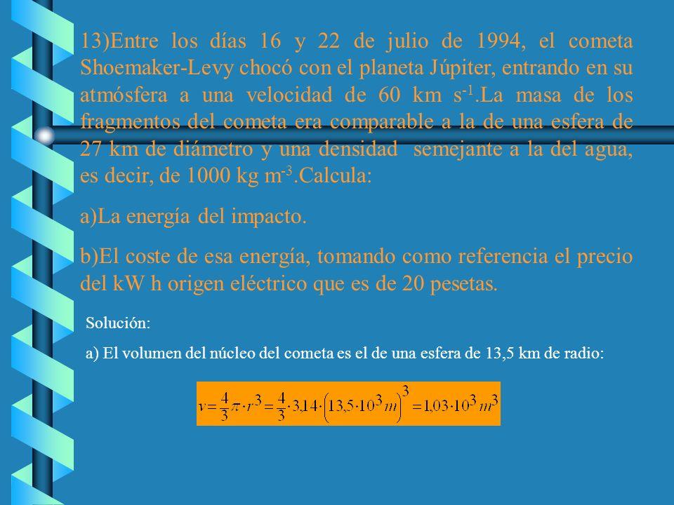 a)La energía del impacto.