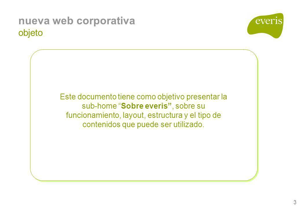 nueva web corporativa objeto