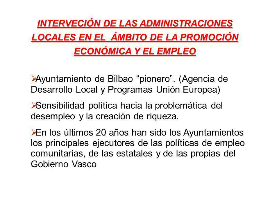 INTERVECIÓN DE LAS ADMINISTRACIONES LOCALES EN EL ÁMBITO DE LA PROMOCIÓN ECONÓMICA Y EL EMPLEO