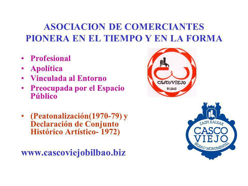 ASOCIACION DE COMERCIANTES PIONERA EN EL TIEMPO Y EN LA FORMA
