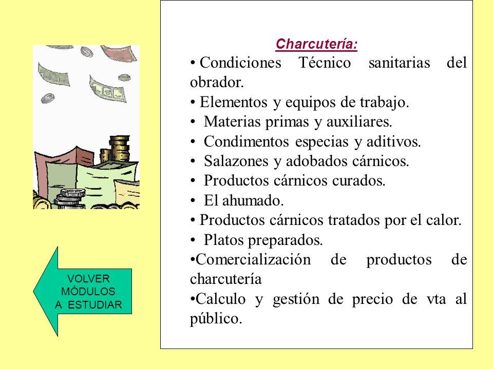 Condiciones Técnico sanitarias del obrador.