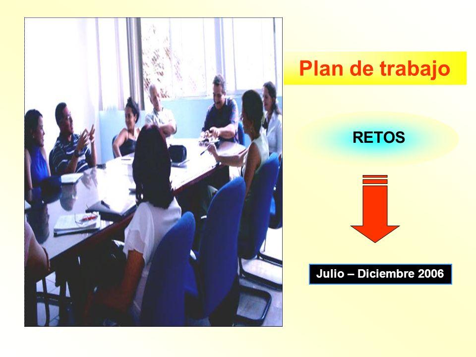 Plan de trabajo RETOS Julio – Diciembre 2006
