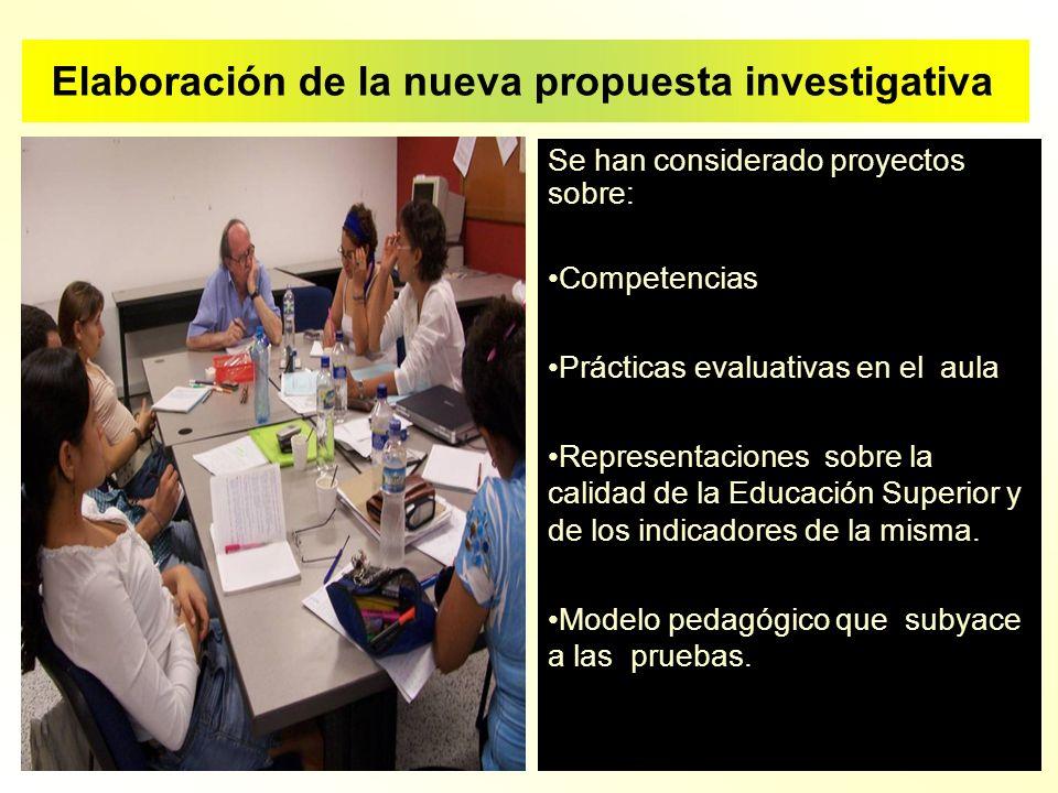 Elaboración de la nueva propuesta investigativa