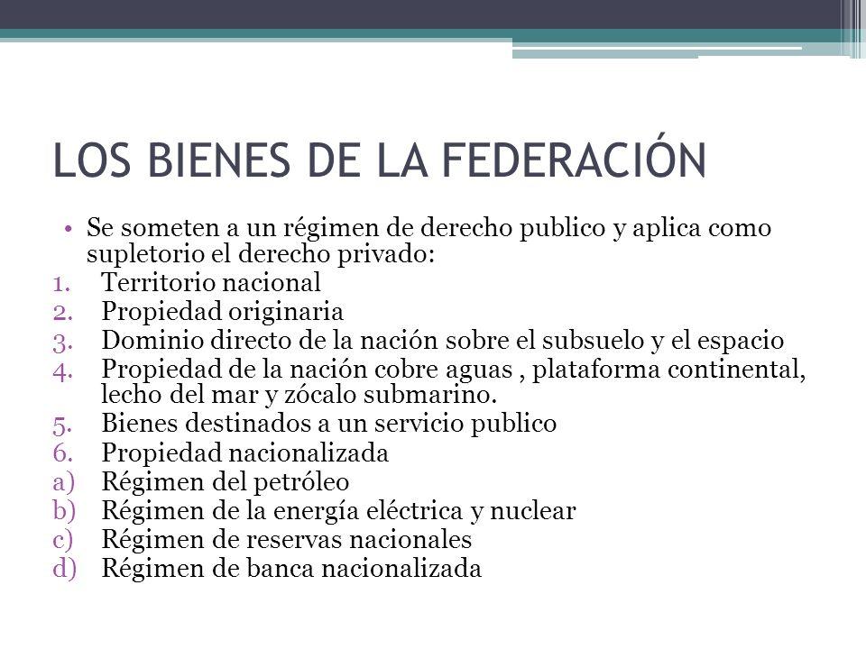 LOS BIENES DE LA FEDERACIÓN