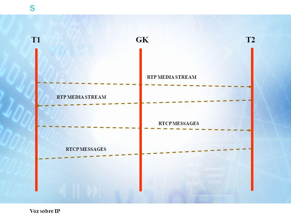 s Capacitación Técnica T1 T2 GK RTP MEDIA STREAM RTCP MESSAGES
