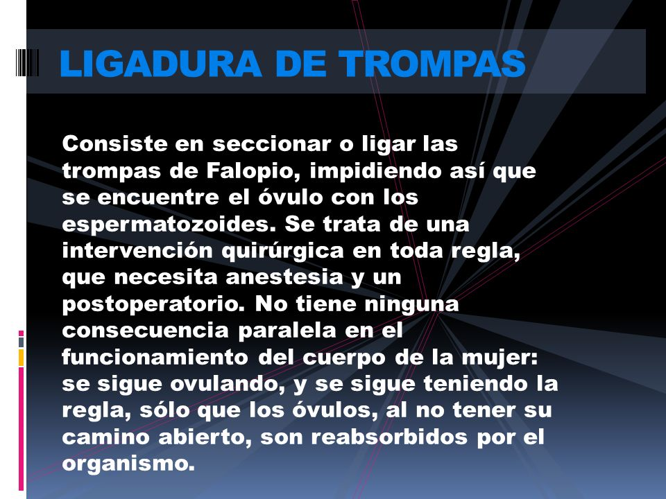 LIGADURA DE TROMPAS