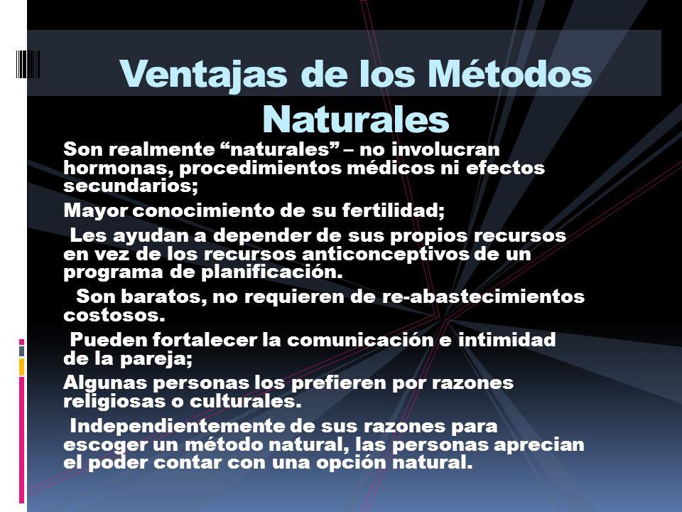Ventajas de los Métodos Naturales
