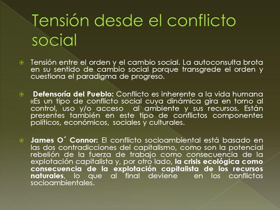 Tensión desde el conflicto social