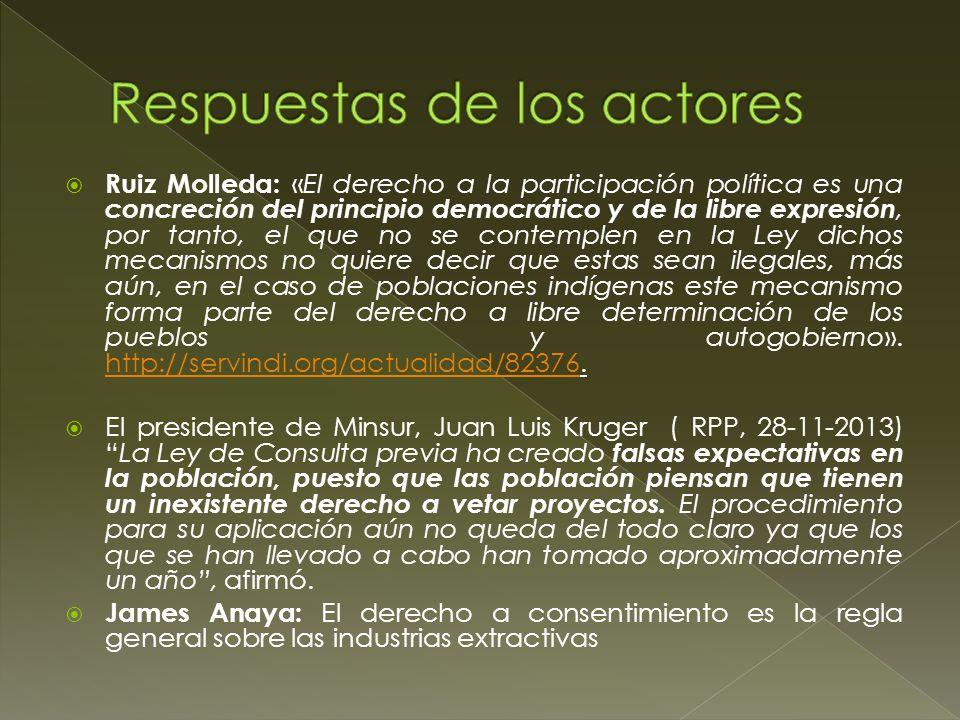 Respuestas de los actores