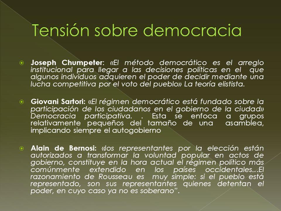 Tensión sobre democracia