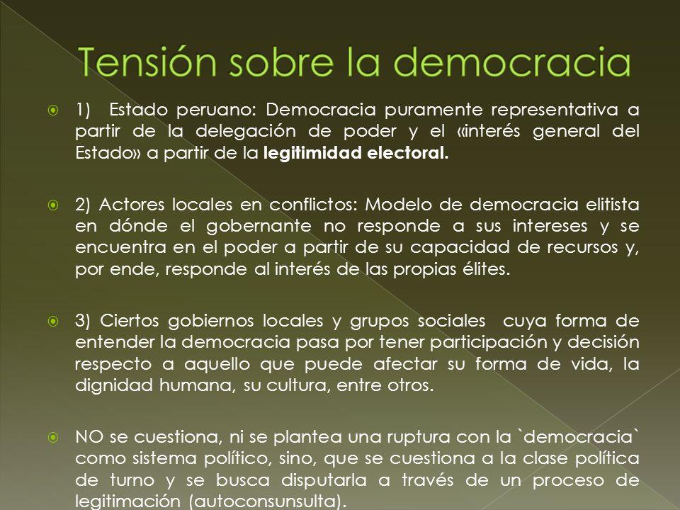 Tensión sobre la democracia